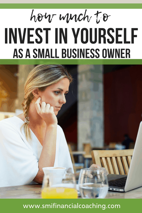 Woman working on continuing education for her small business