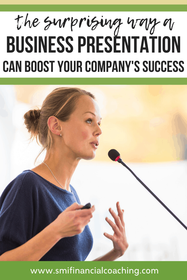 female business owner speaking to an audience