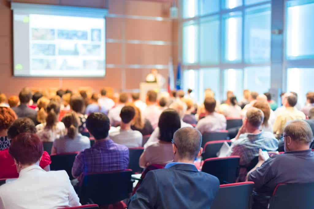 Audience at the conference hall.