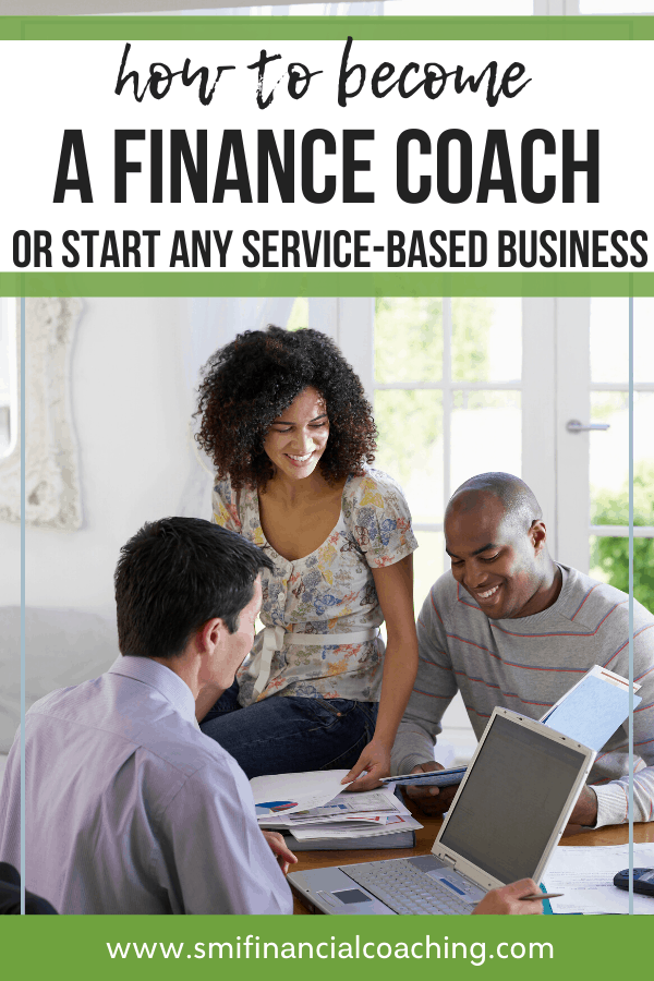 Financial coach looking through finances of smiling couple.