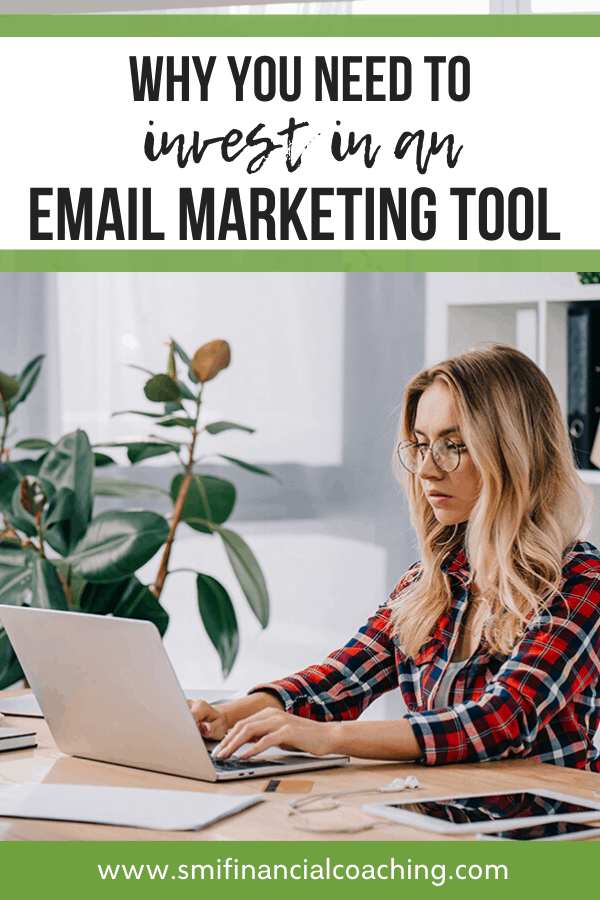 Woman working on email marketing.