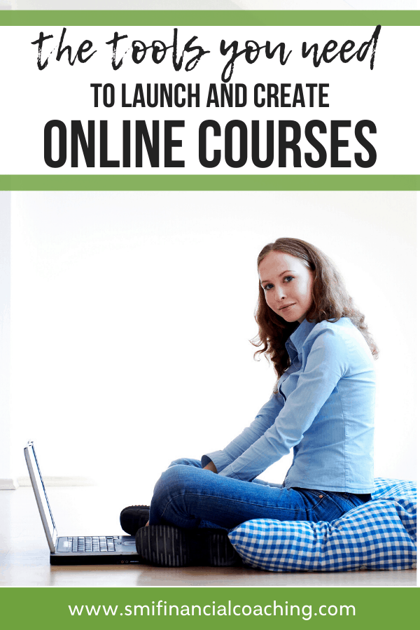 Woman creating online courses for extra income.