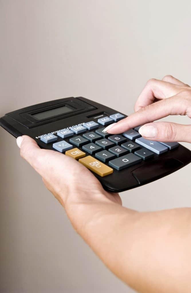 small business cpa using a calculator