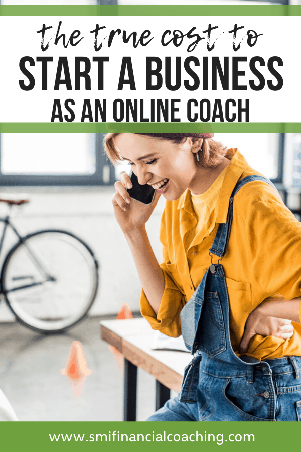 Online business coach talking to a client on the phone