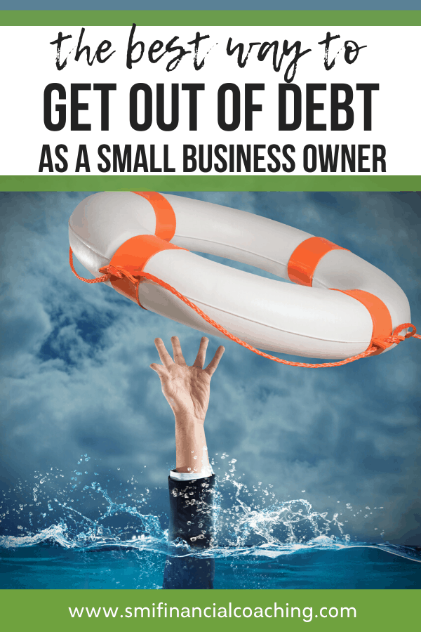 pinterest graphic for getting out of debt as a small business owner